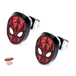 Spiderman Red Suit Mask Stud Earrings