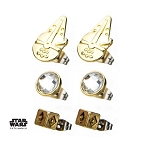 Star Wars Han Solo Stud Earrings Set - 3 Pairs