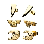 Wonder Woman 3 Pair Stud Earring Set