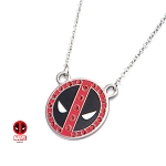 Deadpool Red CZ Logo Pendant w/17.5