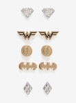 Justice League 5 Pair Stud Earrings Set