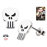 Punisher Skull Logo Stud Earrings