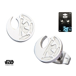 Star Wars Rogue 1 Rebel Alliance/Galactic Empire Split Symbol Stud Earrings