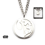 Star Wars Rogue One Rebel Alliance/Galactic Empire Split Symbol Pendant w/22
