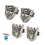 Transformers 2 Pair Autobot & Decepticon Stud Earring Set