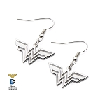 Wonder Woman Stainless Steel Hook Dangle Earrings