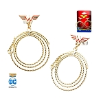 Wonder Woman Golden Lasso Dangle Earrings