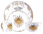 Harry Potter Gold Marauders Map 4pc Dinnerware Set