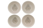 Harry Potter Hogwarts Grey & Gold 4pc Bowl Set