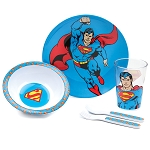 Superman 5pc Mealtime Set