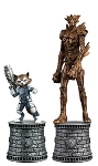 Marvel Chess Collection Special - #2 Rocket Raccoon & Groot White Knight Set with Collector Magazine