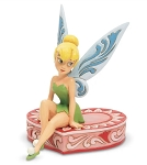 "Disney Traditions ""Love Seat"" Tinkerbell Sitting on Heart Statue"
