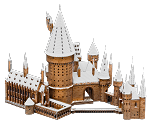 Metal Earth Iconx Harry Potter Hogwarts Castle (in the Snow) Steel Model Kit
