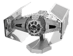 Metal Earth Iconx Star Wars Darth Vader's Tie Fighter Steel Model Kit