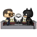 Batman 80th Anniversary Batman and Commissioner Gordon (with Light-Up Batsignal) Pop! Movie Moments Vinyl Figure