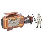 Star Wars EP7 The Force Awakens Rey's Speeder with 3 3/4