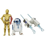 Star Wars EP7 The Force Awakens Snow Mission R2D2 & C3PO 3 3/4
