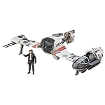Star Wars The Last Jedi Force Link Resistance Ski Speeder with 3 3/4