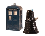 Doctor Who Tardis & Dalek Salt & Pepper Shakers